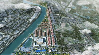 Phối cảnh tổng thể dự án Kalong Riverside Móng Cái