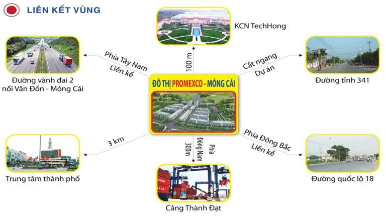 Liên kết vùng dự án Bao Bì Promexco Móng Cái