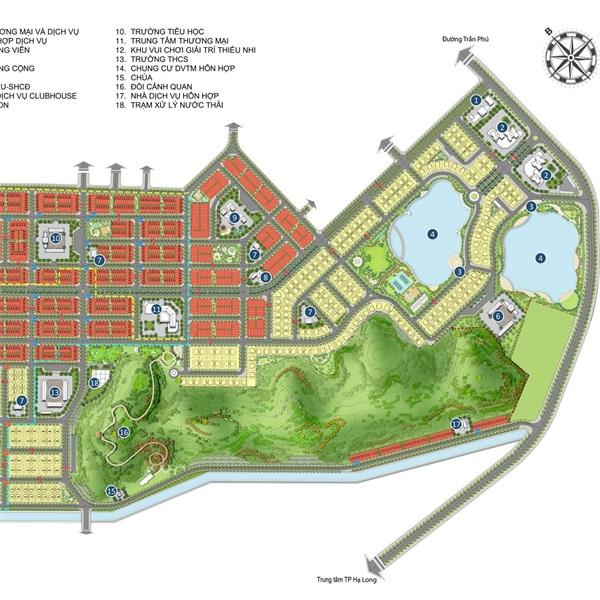 Mặt bằng khu đô thị ngành Than Hà Khánh