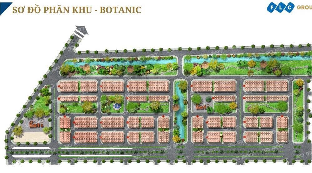 Mặt bằng phân khu Botanic FLC Tropical Hạ Long