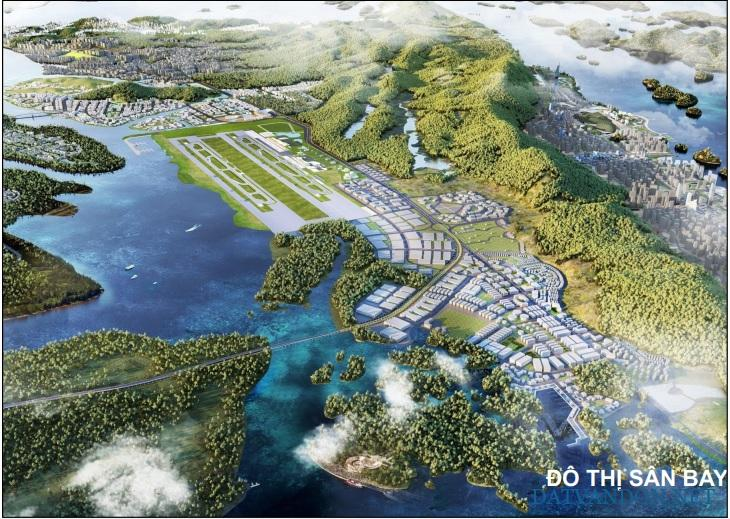 Phối cảnh đô thị sân bay Vân Đồn