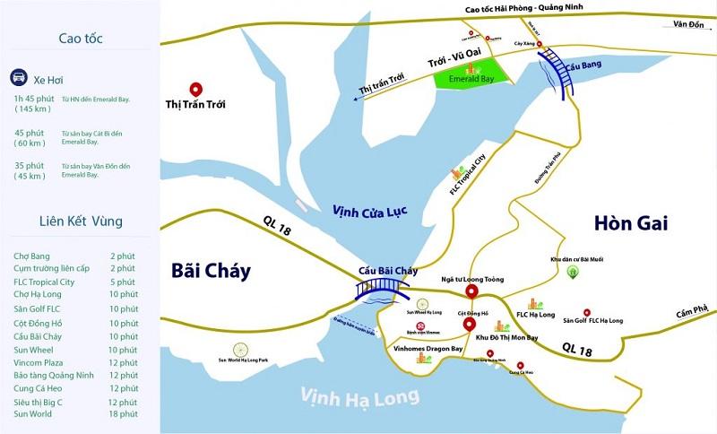 Vị trí dự án Emerald Bay Diễm Loan Hoành Bồ