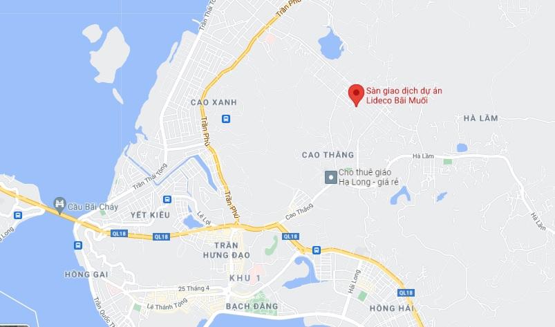Vị trí khu đô thị Lideco Bãi Muối Hạ Long