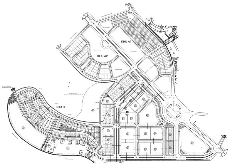 Mặt bằng tổng thể khu đô thị Cái Dăm Geleximco Hạ Long