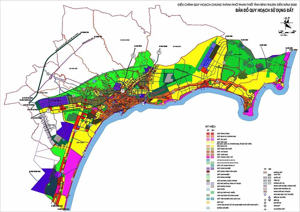 Bản đồ quy hoạch sử dụng đất Phan Thiết