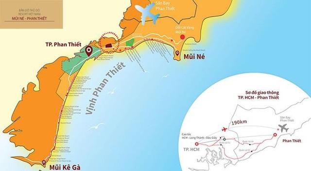 Vị trí thành phố Phan Thiết Bình Thuận